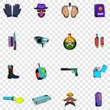 Spy set icons Royalty Free Stock Photo