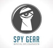 Spy shop logo. Spy gear shop logo conceptn vector illustration