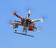 Spy in the sky camera drone Royalty Free Stock Image