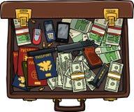 Spy suitcase Royalty Free Stock Image