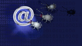 A spy virus breaks up e-mail Royalty Free Stock Photo