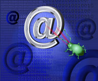 A spy virus breaks up e-mail Royalty Free Stock Photography