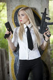 Spy With Two Guns Stock Image