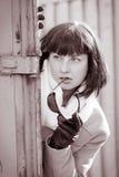 Spy woman stock photo