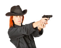 Spy Woman Royalty Free Stock Photo