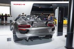 918 Spyder von Porsche-Superauto in Automobilausstellung 2 Lizenzfreies Stockfoto