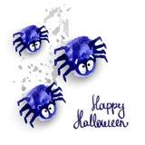 Spyders Halloween Fotografie Stock