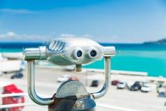 Spyglass для осматривая привлекательностей стоковое фото rf