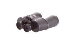 Spyglass. Old soviet binocular on the white Stock Photography