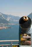 Spyglass on Como lake Stock Photography
