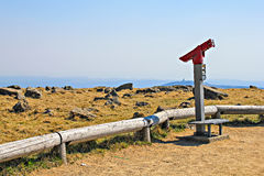 Spyglass landscape sightseeing on the Brocken Stock Photo