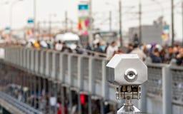 Spyglass near Galata Bridge in Istanbul, Turkey Royalty Free Stock Image