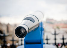 Spyglass in old european town closeup Royalty Free Stock Photos
