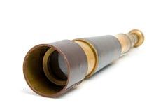 Spyglass pirate Scope Monocular. Over white background Stock Image
