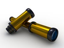 Spyglass pirate Scope Monocular Royalty Free Stock Photography