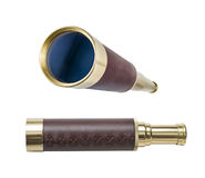 Spyglass or telescope isolated with clipping path included Stock Photography