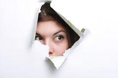 Spying. stock photo