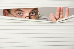 Spying Royalty Free Stock Photo