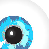 Spying blue eye Royalty Free Stock Images