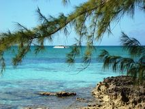 Spying from Half Moon Cay Royalty Free Stock Images