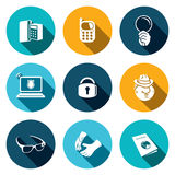 Spying  icon set Royalty Free Stock Images