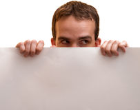 Spying Man Royalty Free Stock Images
