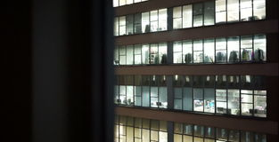 Spying of office from the opposite block stock video