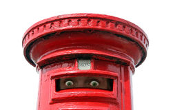 Spying post box eyes Royalty Free Stock Images