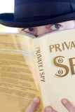 Spying Private Eye Stock Image