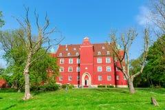 Spyker城堡在格洛韦,鲁根岛,德国 免版税图库摄影