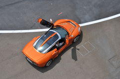 Spyker C8 from above Royalty Free Stock Image