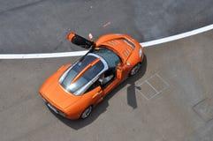 Spyker C8 de acima imagem de stock royalty free