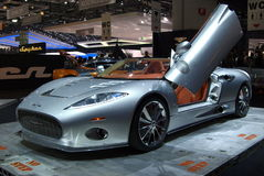 Spyker C8 at Geneva International Motor Show, 2010 Royalty Free Stock Images