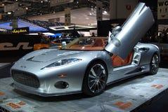 Spyker C8 at Geneva International Motor Show, 2010 Royalty Free Stock Images