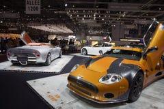Spyker na mostra de motor de Genebra imagens de stock