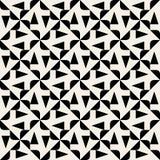 Spyral för sömlös svartvit rundad triangel för vektor geometrisk modell Arkivfoton