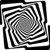 Spyral oändligt perspektiv för svart ormtrappa stock illustrationer