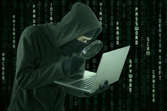 Spyware ища информация Стоковые Фото