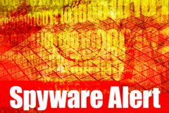 Spyware Alert Warning Message. On abstract technology background Stock Images