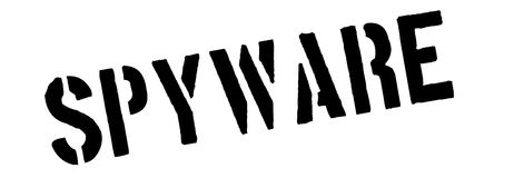 Spyware black rubber stamp on white Royalty Free Stock Photography