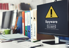 Spyware Computer Hacker Spam Phishing Malware Concept Stock Photos