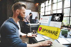 Spyware Computer Hacker Virus Malware Concept Royalty Free Stock Image