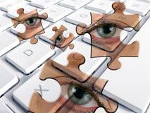 Spyware d'ordinateur Photo libre de droits