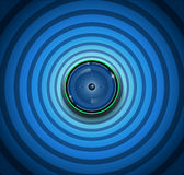 Spyware eyeball on blue background Stock Photo