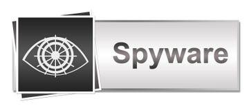 Spyware Grey Button Style Stockbild