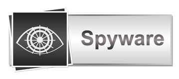 Spyware Grey Button Style Stock Image