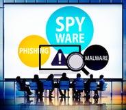 Spyware Hacking Phishing Malware Virus Concept Stock Images
