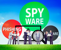 Spyware Hacking Phishing Malware Virus Concept Royalty Free Stock Photos