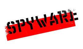 Spyware rubber stamp Stock Image