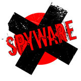 Spyware rubber stamp Stock Photography
